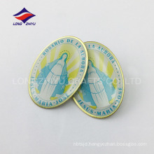 High quality polish handmade printed lapel pin