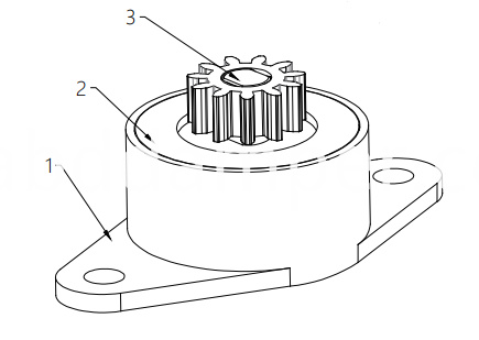 Gear Damper For Coffee Machine