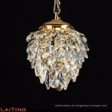 Pine Cone Design neue Produkte chinesische k9 Kristall Gold Kronleuchter Pendelleuchte 71137