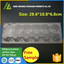 12 Holes Plastic Chicken Eggs Tray Package