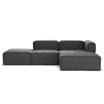 Quadra Carbon Gray Right Sectional Soffa