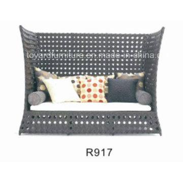 Современная мебель для отдыха на открытом воздухе Rattan Wicker Daybed (R917)