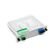 SC / PC 1 X 8 puce inséré fibre optique automate diviseur, faible Insertion perte de fibre coupleur plc diviseur