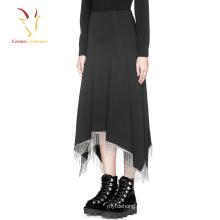 Высокая талия шерсть юбки длинные шерстяные юбки оптом