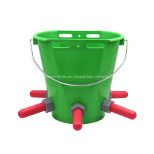 Cubo de alimentación Cubos de alimentación de vaca flexible con pezón