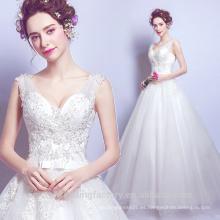 Robe De Mariage 2017 Vestido De Boda Vestido De Boda Sexy V-neckline rebordeó Vestidos nupciales MW2203