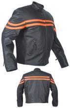 Leather motorbike men jacket