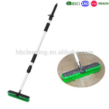 telescopic water flow through garden brushes, outdoor sweeping brush