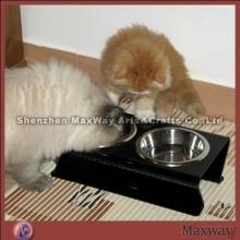 Black Home Perspex Cat Food Holder