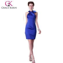 Grace Karin Vestidos de cóctel de raso de la manera atractiva del azul real CL2017