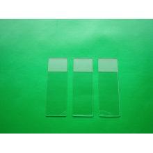 Lâminas do microscópio do solo ou não moído ou lado fosco
