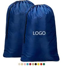 Custom OEM Extra large Printed Rip-Stop Travel Dirty Clothes Washable drawstring Nylon Laundry Bag