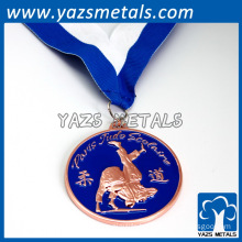 In stock ribbon sports medals custom wrestling medals