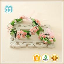 Filles fleurs hairband pour la décoration de mariage accessoire de mariage de glycines artificielles