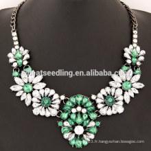 Nouvel arrivant gros résine fleur grand collier pour femmes