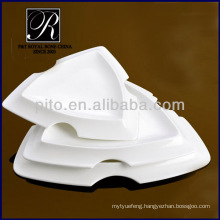 latest design deep triangular ceramic plates