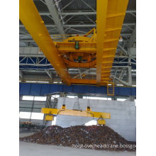 Heavy Duty 10 Ton Electromagnetic Overhead Crane With Magnetic Chuck For Indoor / Outdoor