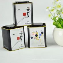 2017 Producto Nuevo Personalizada Logo Square Tea Tin Box