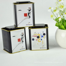 2017 New Product Customized Logo Square Tea Tin Box