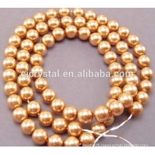 Glass pearl 8mm in bulk