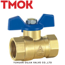 brass color butterfly handle ball valve