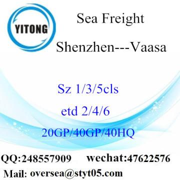 Shenzhen Port Sea Freight Shipping Para Vaasa