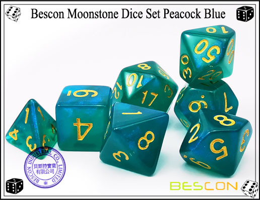 Peacock Blue Dice Set-1