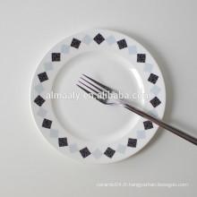 Assiette de dessert en porcelaine design moderne