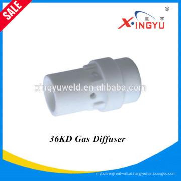 Alta qualidade e preço de fábrica BW36KD refrigerado a ar MIG / MAG / CO2 soldadura tocha gás difusor