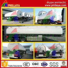 Reboque do armazenamento de combustível do aço carbono dos Tri eixos de 45000L semi / petroleiro de óleo