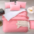 Comfortable Microfibre  Polyester Solid  Bedding Duvet Cover Set