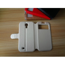 Couverture de livre de téléphone portable Premium Flip en cuir Shell Shell pour Samsung Galaxy S4