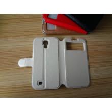 Caso de telefone de capa de livro de telefone celular de couro de sacudidela premium para Samsung Galaxy S4