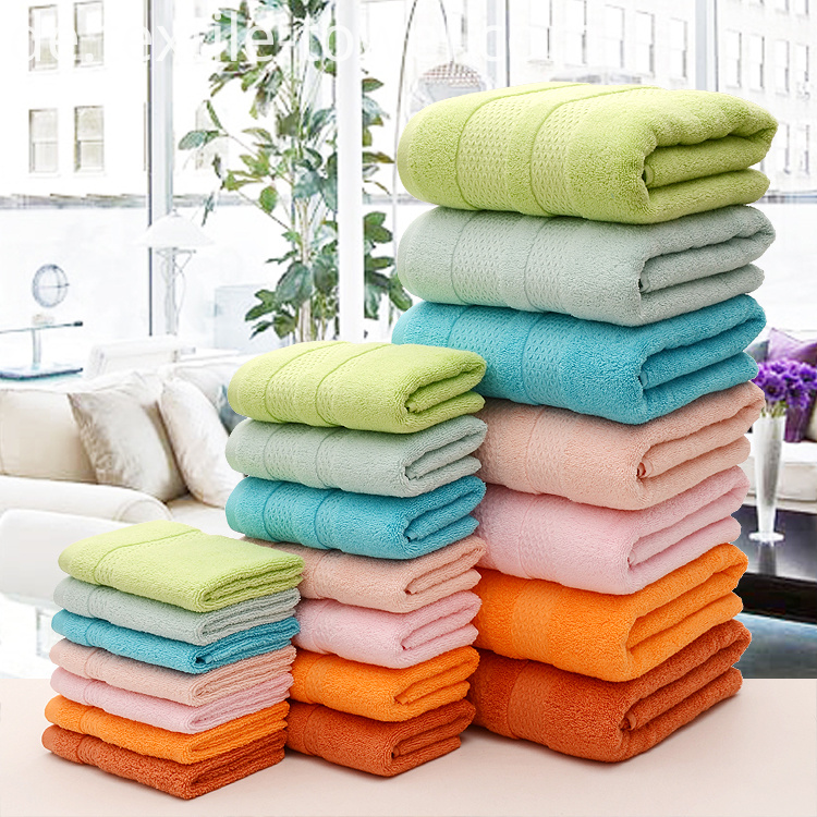 Solid Color Bath Towels