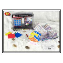 Cubo de velocidad de magia de plástico puzzle twisty juego