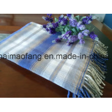 Mantas tejidas con flecos de algodón de cuadros escoceses