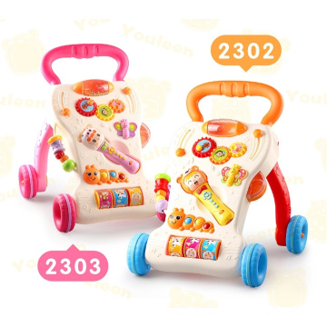 Music Baby Walkers Custom Cheap Intelligent Music Plastic Baby Walkers