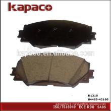 Ceramic Disc Brake Pad Manufacturers for LEXUS PONTIAC TOYOTA D1210 04465-42160