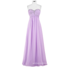 Starzz 2016 Ladies Full-Length Strapless Sweetheart Beaded Chiffon Formal Gowns Long Lilac Bridesmaid Dress ST000002-5