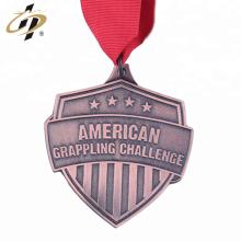Personalizar en relieve propio diseño de metal American Grappling medalla deportiva