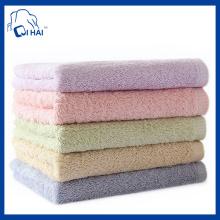Serviette de bain en coton à aggloméré en coton pur (QHL55121)