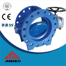 ANSI Double Eccentric Double Flange Electric/Mannual Actuator Butterfly Valve