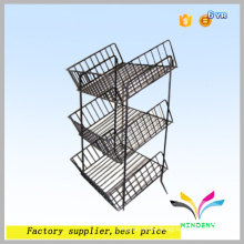 High quality sturdy black powder coated metal fruit vegetable display rack