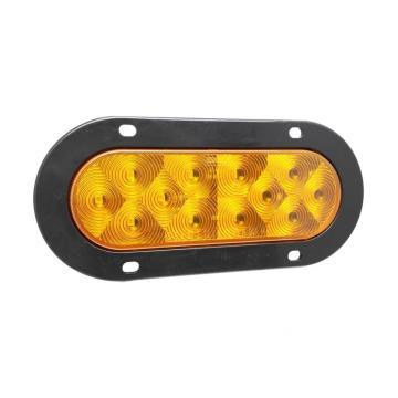 "6 ""Indikator Trailer Truk LED Oval Amber Turn Lamps"