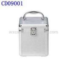 CD 80 discos Linda CD caja de aluminio con piel del panel del ABS por mayor de China fabricante