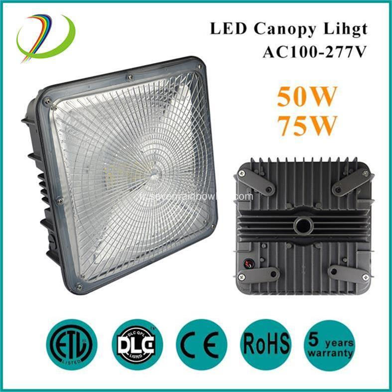 75W LED Canopy Light ETL DLC listé