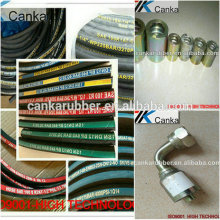High pressure hydraulic rubber hose/fittings SAEJ517-100R1AT