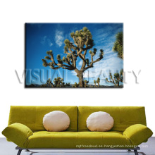 Moderno estirado árbol de pintura para la decoración del hogar