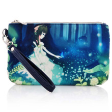 Lady Fashion Printed Cotton Canvas Toiletry Wash Cosmetic Bag (YKY7531-5)