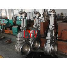 Válvula de compuerta de cuña de acero fundido manual